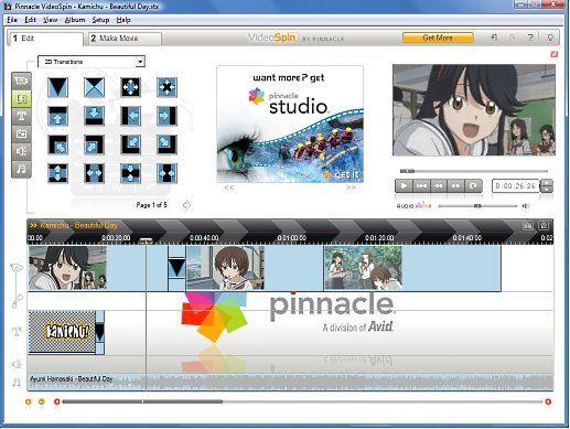 Вид главного окна VideoSpin