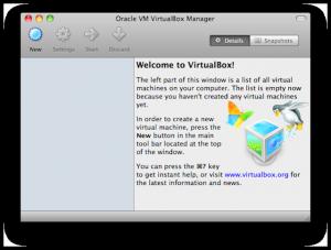 Мастер установки виртуальной мащины VirtualBox