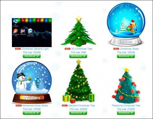 новогодне гаджеты, разнообразные елки